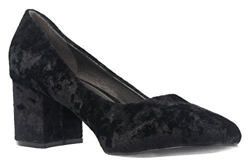 Fitters Footwear Sesy - Mujer Tacones - Negro Terciopelo Zapatos EN Tallas Especiales