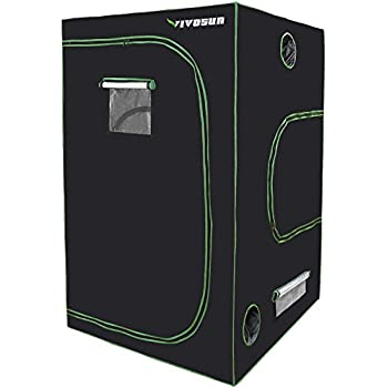 VIVOSUN 48 x48 x80  Mylar Hydroponic Grow Tent with Observation Window and Floor  sc 1 st  Amazon.com & Amazon.com : Lighthouse Hydro Hydroponics Grow Tent 32 by 32 by ...