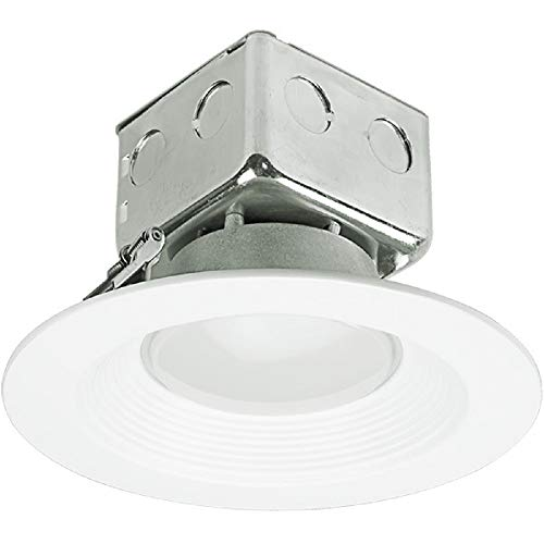 - 1100 Lumens - 6 in. Retrofit LED Downlight - 15W - 75W Equal - 5000 Kelvin - Stepped Baffle Trim - Dimmable - 120-277V - PLT 91004