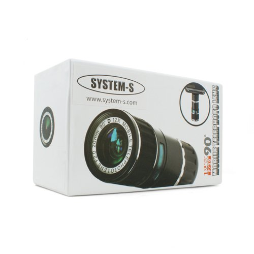 System-S 12x Zoom Teleskop Teleobjektiv Linse Objektiv mit Case Hülle und Mini Tripod Stativ für iPhone 6