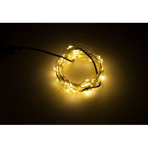 New Karlling USB Plug In LED Fairy Lights,50 LED Bulbs 16 Ft Copper Wire Waterproof Starry String Lights for Bedroom Patio Garden Party Wedding Commercial Lighting (Warm White) free shipping
