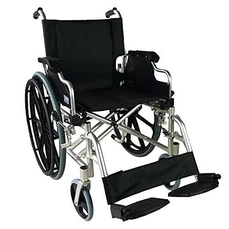 Mobiclinic, modelo Ópera, Silla de ruedas ortopédica, plegable, para minusválidos, de aluminio, freno en manetas, reposapiés y reposabrazos ...