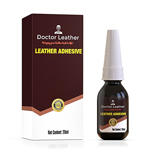 Adhesive Fabric Clear Dries (Doctor Leather | Two Pack of Leather, Vinyl and Fabric Adhesive | Non Toxic and Dries Clear | Instant Drying Latex Based Glue | 0.7fl oz per Bottle)