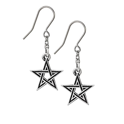 Black Star Earrings by Alchemy Gothic, England