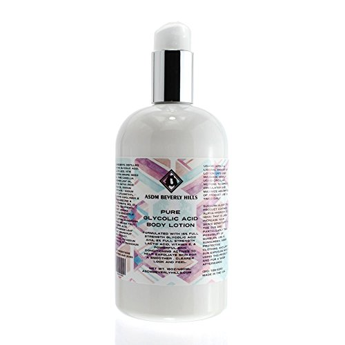 ASDM Beverly Hills 15% Glycolic Acid Body Lotion |16 ounces| Contains Vitamin E and Aloe Vera- Smoothens Acne, Wrinkles, Fine Lines and Dry Skin- Gently Exfoliates, Retextures and Renews Skin