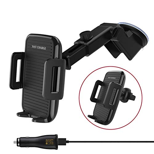 Price comparison product image Automatic Wireless Car Charger Mount,  QI Sensor Induction Qi Fast Charging Car Mount Air Vent Dashboard Phone Holder 7.5W for iPhone Xs Max / XR / Xs / X / 8 Plus,  10W for Samsung Galaxy S9 / S8 Plus