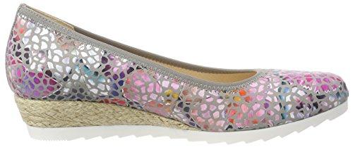Gabor Shoes Comfort Sport, Bailarinas Para Mujer Gris (Stone Jute)
