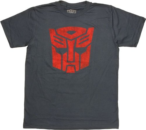 Mad Engine Transformers Red Autobot Logo Mens T-Shirt - X-Large - Blue Transformers Sheer T-shirt