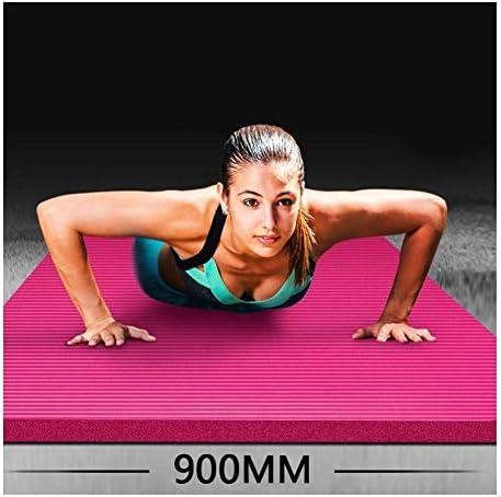 Eco friendly ピラティス、フロアマット185センチメートル90センチメートル2センチメートル環境に優しいノンスリップヨガピラティスフロア(ポータブルバッグ、ベルト)を持つすべてのヨガマットヨガマット20ミリメートルエキストラ太い高密度段ボールパッド exercise (色 : Pink)