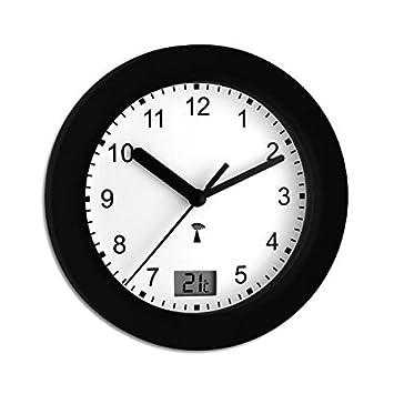 wetterladen 60350101 horloge radio pilote pour salle de bains avec affichage de la - Pendule Salle De Bain