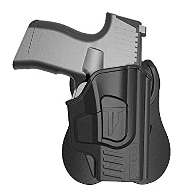 OWB Paddle Holster Fit Sig Sauer P365 9mm Pistol, Outside The Waistband Carry OWB Holster with 360 rotations Paddle, Gen3 Polymer Holsters - Right Hand