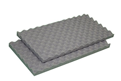 2 5 x 24 x 18 acoustic convoluted eggcrate soundproofing foam gun case foam packing foam. Black Bedroom Furniture Sets. Home Design Ideas