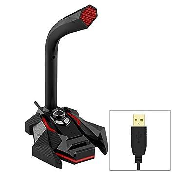 Micrófono y soporte , GK escritorio omnidireccional USB ...