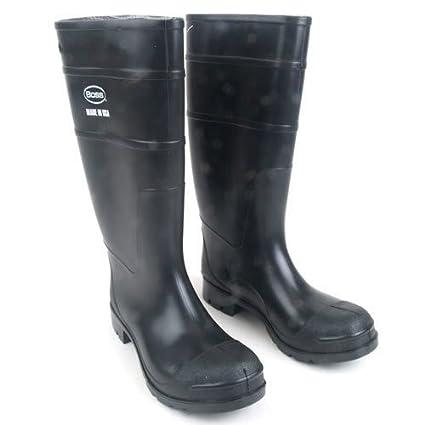 a666e6b62ded0 Boss 2KP200113 Men's Black Rubber Boots, Size 13