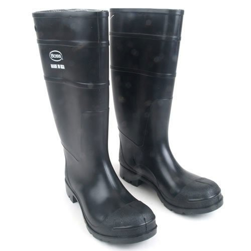 Amazon.com: Boss 2KP200113 Men's Black Rubber Boots, Size 13 ...