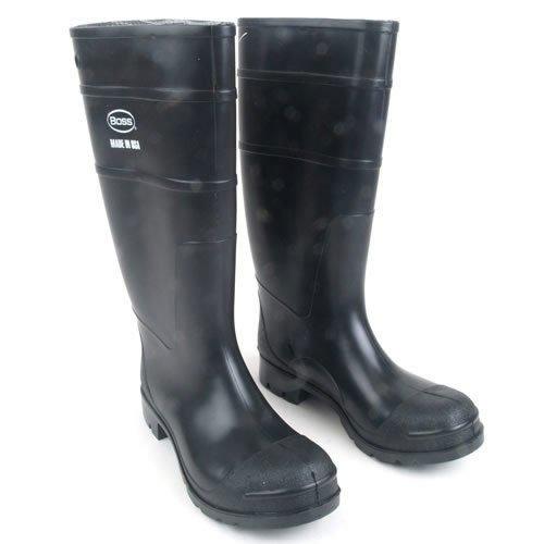 Boss 2KP200113 Men's Black Rubber Boots Size 13