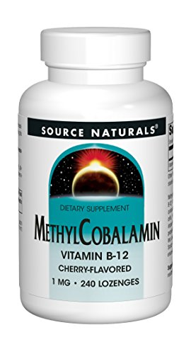 Source Naturals MethylCobalamin Vitmain B-12 Cherry-Flavored 1 MG 240 Lozenges