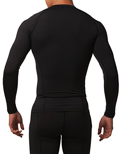 Defender Men's Quick Dry Compression Baselayer Underlayer Mock Long Sleeve T Shirts