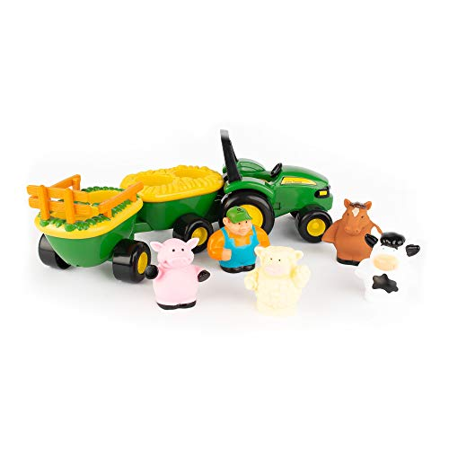 TOMY John Deere Animal Sounds Hayride Preschool Toy