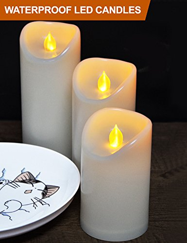 Outdoor Lighted Plastic Candles - 1