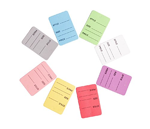 8 Colors One Part Unstrung Perforated Price Coupon Tag Clothing Price Labels. (1000 Pcs)
