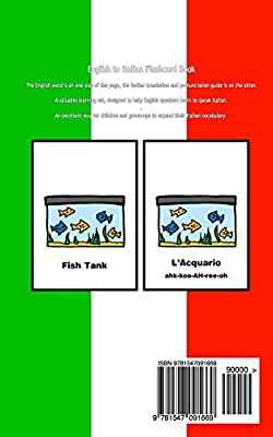Household Items Black and White Edition Italian for Kids English to Italian Flash Card Book