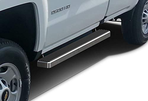 Tube Steps 2014 Chevy - APS iBoard Running Boards 4 inches Custom Fit 2007-2018 Chevy Silverado GMC Sierra Regular Cab & 2019 2500 HD 3500 HD (Exclude 07 Classic)(Include 19 1500LD) (Nerf Bars Side Steps Side Bars)