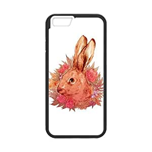 iPhone 6 4.7 Inch Cell Phone Case Black Hare Qmqqo
