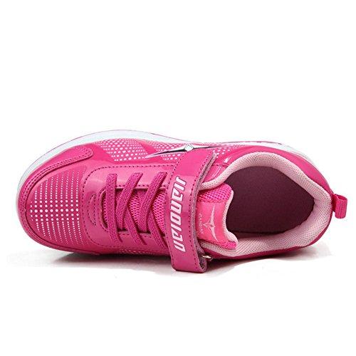 Zapatillas con ruedas retráctiles, una o dos ruedas, automáticos Pink (Double wheels)