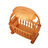 CUTICATE Rocking Cradle Crib Bed Baby Bedroom Furniture Accessory for Kelly Dolls