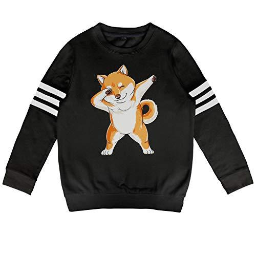 BenS Oscar Hoodies for Boys Girls Dabbing Doge Shiba Inu Cool Trendy Cotton Long Sleeve Sweatshirt for Kids ()