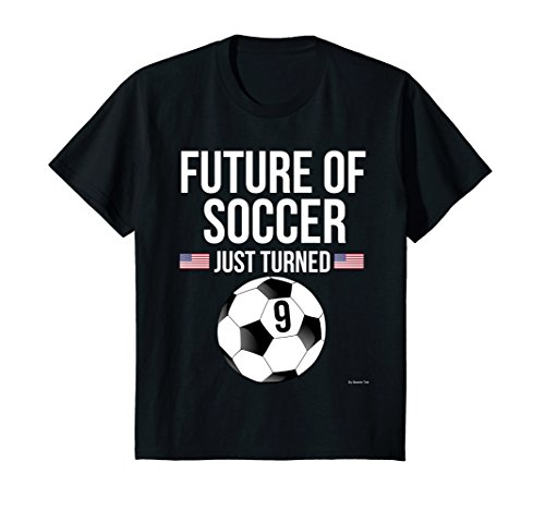 Kids 9th Birthday Soccer T Shirt 9 Year Old Birthday Gift 10 (Old Soccer Shirts)