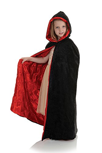 Children's Deluxe Velvet Hooded Cape - Embossed Pintuck]()