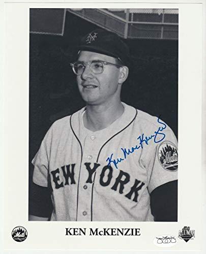 (Ken Mckenzie 1962 New York Mets Autographed Signed 8x10 Autograph Auto Memorabilia JSA Sticker)
