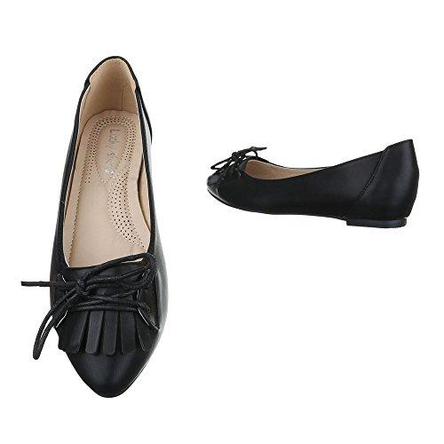 Flats Black Women's Ballet Ital Design CaqtZZ