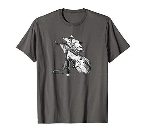 (Rockabilly Rats 50's Upright Bass T-shirt)