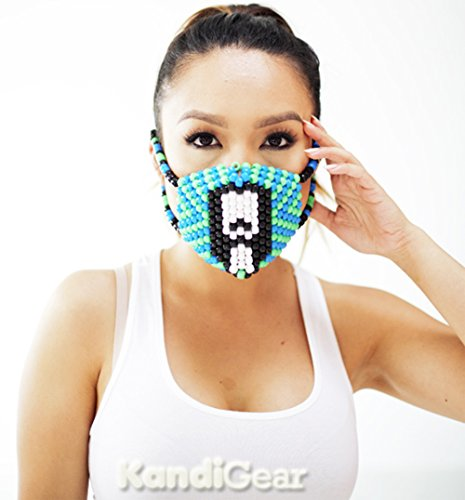 Kandi Gear - Steve Aoki Kandi Bead Mask Surgical, Rave Wear, Halloween