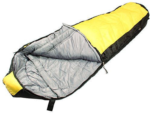 Northstar Tactical Coretech Sleeping Bag with 2 Fast Clip Closure Yellow 3.5-Pound