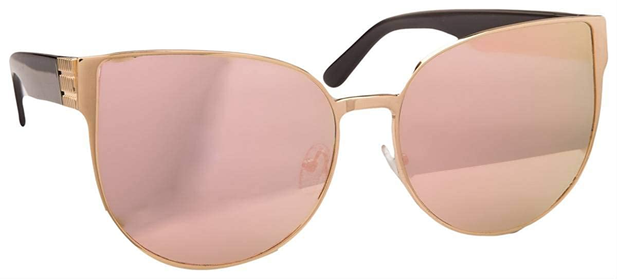 0475985d9f Jeepers Peepers Womens Cat Eye Sunglasses - Black Gold Pink  Amazon.co.uk   Clothing