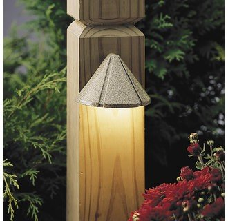 Kichler Lighting 15765AZT LED Mini Deck Light Low Voltage Deck and Patio Light, Textured Architectural Bronze