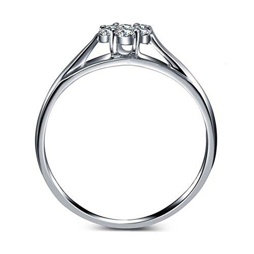 Erica 925 Sterling Silver Fashion Simple Zicron Forme Forme Anneau Taille ajustable Cadeau pour les femmes