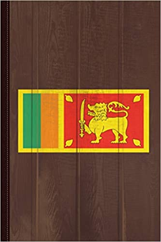 Sri Lanka Flag Journal Notebook Blank Lined Ruled For Writing 6x9 110 Pages