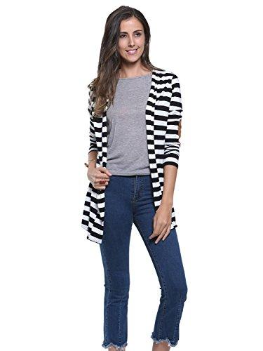 Persun Stripes Sleeve Cardigan Jacket