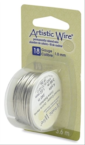 - Artistic Wire Beadalon, 18 Gauge, Tinned Copper, 4 yd (3.7 m) Craft Wire