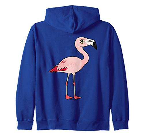 Cute Cartoon Flamingo Bird Lover Gift | Chilean Flamingo Zip Hoodie