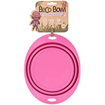 Beco Pets Travel Bowl, Large, Pink