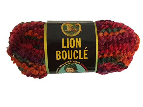 Lion Brand Boucle Yarn - Popsicle