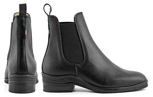 Umbria Reiten Stiefel Leder Kalbsleder Unisex Erwachsene Kinder schwarz 46
