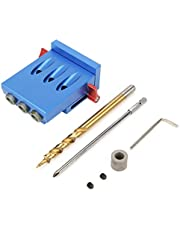 Pocket Hole Drilling Jig, Aluminum Alloy Woodworking Oblique Hole Locator Drill Guide Set Positioning Locator Tool