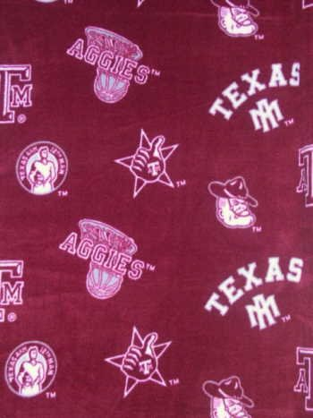 Texas A&M University By Sykel - Allover - 100% Polyester Fleece 60